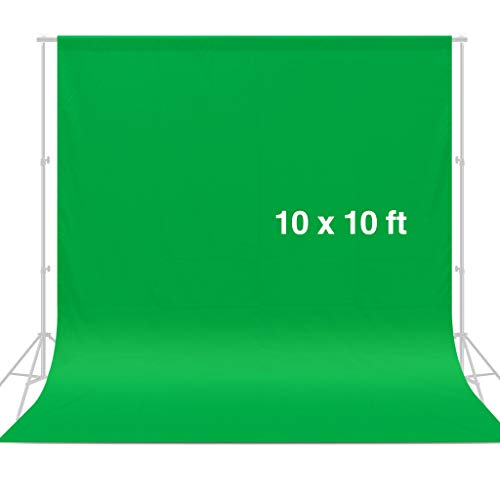 CRAPHY Photo Studio Backdrop 10 x 10FT / 3 x 3M Silk Cotton Cloth Collapsible Background Lightweight Seamless Sheet for Professional Photography - Green (Best Green Screen Effects)