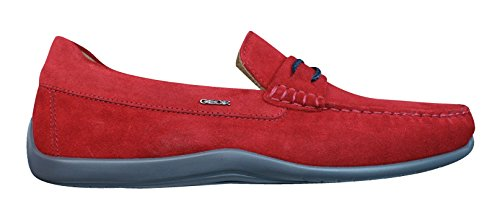 Moc Mens Leather Red Geox Xense Shoes Suede C U Moccasins 0TXwwtBRq