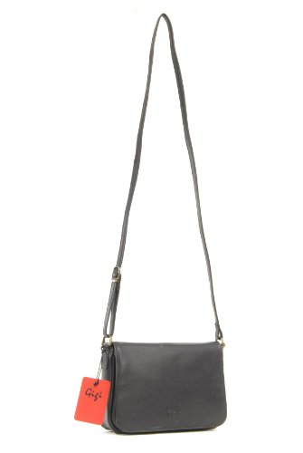 Othello Leather 14578 Black Flapover Gigi Bag Organiser Small qIOnXOYwPF