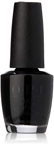 Halloween Black And Orange Nails (OPI Nail Lacquer, Black Onyx)