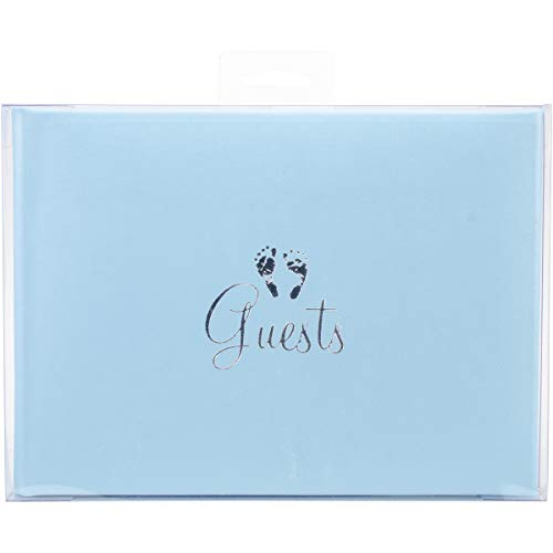Darice 8.5-Inch-by-6-Inch Guest Book, Baby Blue (Darice Baby)