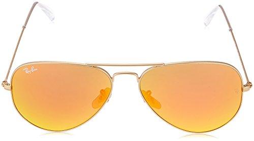 Large Hombre Aviator Dorado Metal para de Gradient sol Ray Ban Brown Gafas EFTqx8fnw