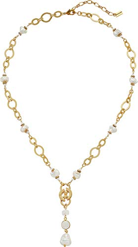 Chan Luu Women's Chain Link Necklace White Mix One ()