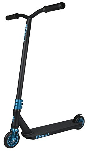 Chilli Reaper Wave Complete Pro Scooter – Freestyle Stunt Scooter for kids, teens, adults – Aluminum Deck and Fork, 4130 Chromoly T Bar, 3-Bolt Clamp, 110mm Urethane Wheels