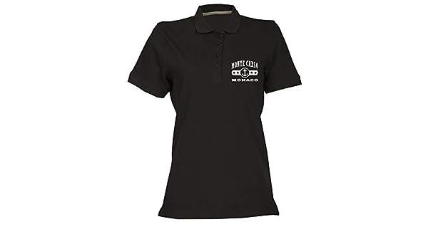T-Shirtshock Polo para Mujer Negro DEC0498 Monte Carlo Monaco ...