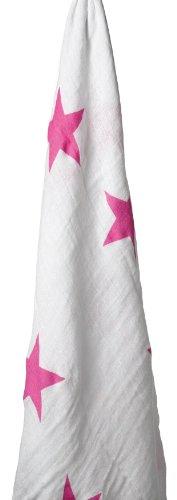 aden + anais (エイデンアンドアネイ)  モスリンコットン おくるみ 1枚 twinkle pink stars wrap-9008
