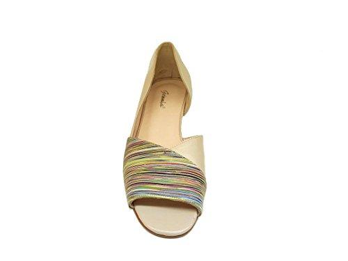 Multicolore Pelle Sandalis Darc beige thai LEBIL Mariola print GENNIA Design gE87BqPwxW