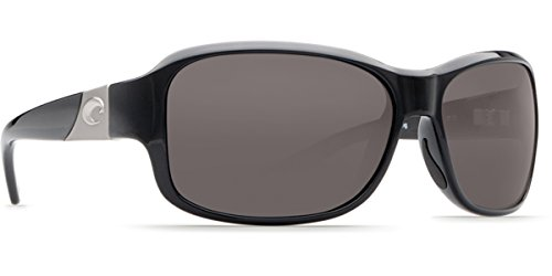Costa Inlet Polarized 580P Sunglasses - Women's Shiny Black/Gray, One - Costa Sunglasses Girl