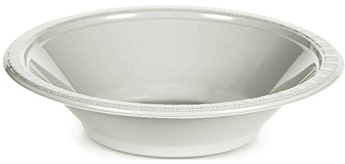 (Creative Converting 28000051 Touch of Color Plastic Bowl Party Supplies, 12oz, White)