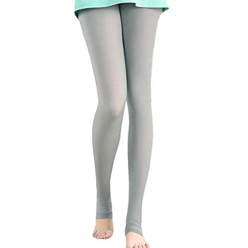 - George Jimmy Summer Light Breathable Clothing Pants Sport Leggings Womens Golf Clothes Stirrups Leggings Sun Protection Cool Ice Silk Leg Socks(Gray)