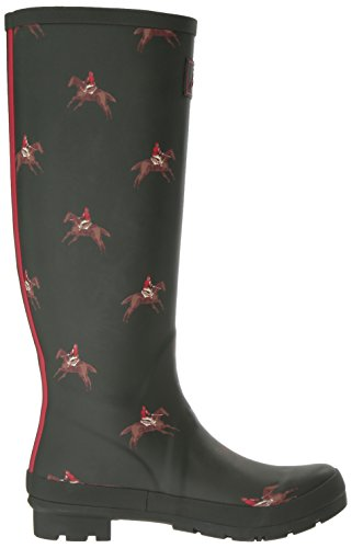 Joules Womens Welly Print Rain Boot Olive Horse Rider AcNEZT