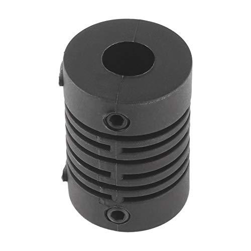 NOUVEAU coupleur darbre de m/âchoire de moteur CNC 6x6mm 6mm /à 6mm flexible Couplage OD 21x14MM Noir