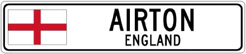 AIRTON, ENGLAND - Flag City Sign