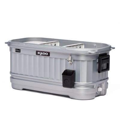 Cooler with Wheels Party Bar LiddUp Illuminated 125 Qt