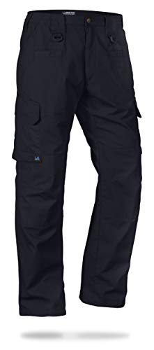 LA Police Gear Men's Water Resistant Operator Tactical Pant with Elastic Waistband Navy-40 x 32
