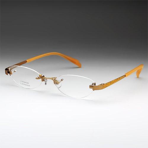 鯖江ワークス(SABAE WORKS) 老眼鏡 ツーポイント オレンジ ケース付き NT539C3 (度数+2.50, ブルーライトカット) 度数+2.50 ブルーライトカット B01NCQLR23