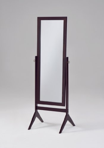 Espresso Finish Mirror (Espresso Finish Wooden Cheval Bedroom Floor Mirror)