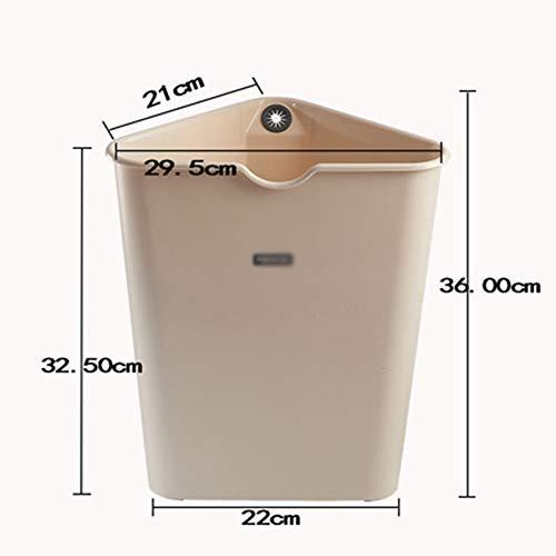 Yxian Thicker Triangle Kitchen Plastic Corner Kitchen Trash Bin Bedroom Bathroom Home,C,36x22x29.5cm(14x9x12)