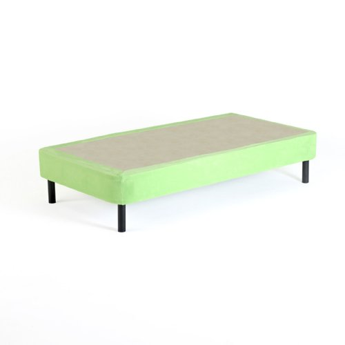 Memory Foam Kidz Cover for Twin Box Spring or Metal Foundation, Green