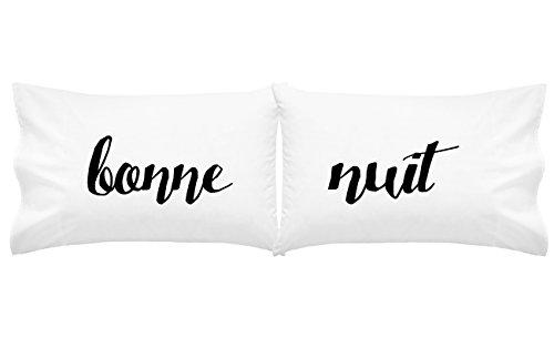 Oh, Susannah Bonne Nuit Pillow Case Unique Pillows Funky Pillowcase Cool Pillows French (Bonne nuit Script) from Oh, Susannah