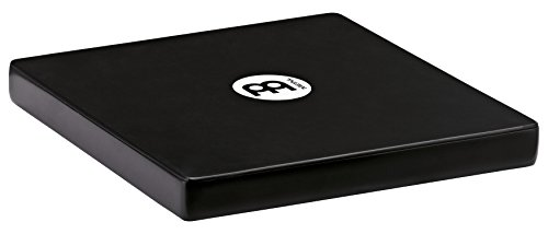 Meinl Percussion TCAJ1BK Compact Rubber Wood Travel Cajon, Black