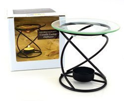 Aura Island Light (Aura Cacia Spiral Candle Lamp Black -- 1 Diffuser by Aura Cacia)