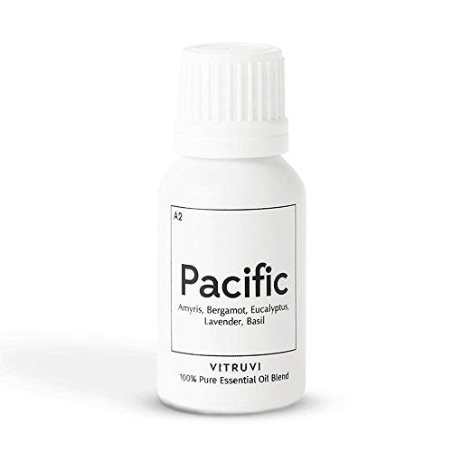 Vitruvi Pacific, Balanced Essential Oil Blend, 100% Pure Amyris, Bergamot, Eucalyptus, Lavender and Basil Oil (0.5 fl.oz)