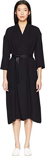(Vince Women's Belted Wrap Dress Black X-Small)