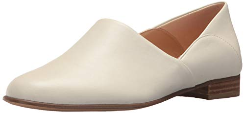 CLARKS Women's Pure Tone Loafer Flat, White Leather, 70 M US