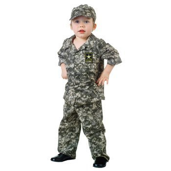 Toddler Camo Army Costumes (U.S. Army Camo Set Toddler Costume - Large)