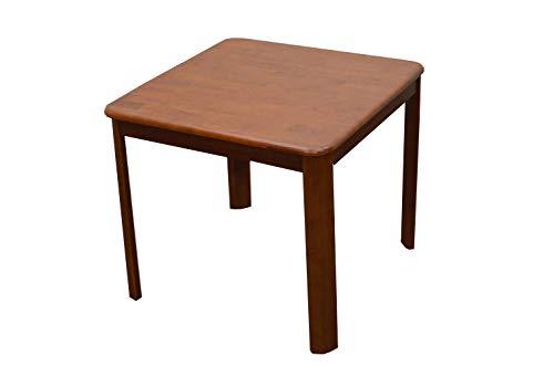 正方形 ミドルブラウン色 食卓 2人掛け 机 80cm ell80-360mbr ric ダイニングテーブル 木製 2s-1k-178