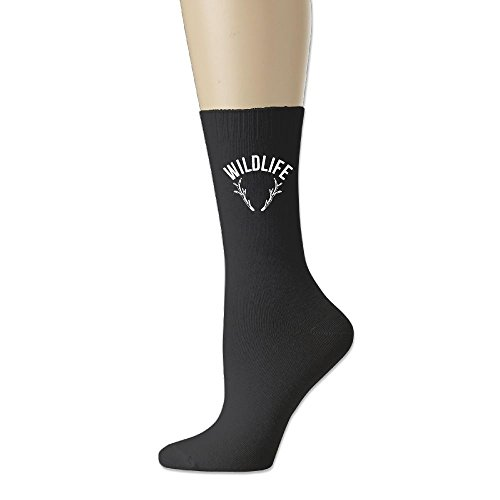RZM YLY Wildlife Population Deer Unisex Funny Novelty Casual Soft Cotton Socks