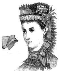 1870 Violet Crape Bonnet - Ford Hat Tom