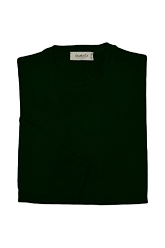 Vert Chandail Pullover Cou Extrafine In Iacobellis Made Forêt Laine Ras Mérinos Homme Du Italy 4fFwx7pqH