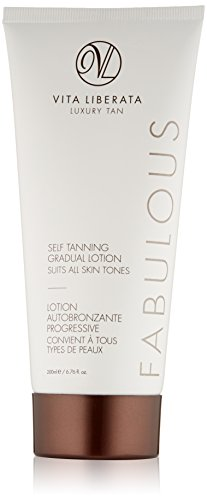 Organic Gradual Tan Lotion - VITA LIBERATA Fabulous Sunless Tanning Gradual Tanning Lotion, 6.76 Fl Oz (Best Gradual Self Tan Body Lotion)