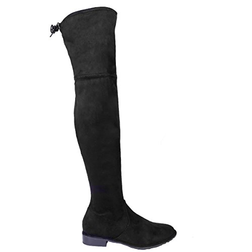 37 Clothing Stivali Nero LAW amp; Shoes Faux Black Donna Suede qTAPRUWPzw