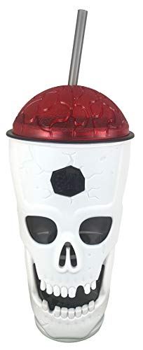 Cool Gear Halloween Tumblers (Cool Gear Halloween Skull Sipper - 22 Ounce Tumbler with Seal Tight Lid (Red)