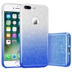 Vinnx Gradient Bling Glitter Sparkle Back Cover for Apple iPhone 7 Plus  Blue  Mobile Accessories