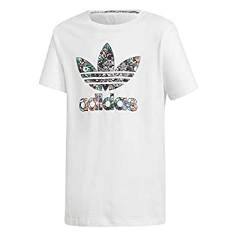 Adidas J Prrt Tee T-Shirt For Boys D98900 White - 7-8 Years