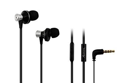 Alpatronix EX100 High Performance Tangle-Resistant In Ear Earphones with Mic / Microphone, Volume Control and Case (Carrying Pouch) for iPhone 5S, 5C, 5, 4S, 4, 3GS, 3G / iPad 4, iPad 4 with retina display, 3, 2, 1, mini, iPad mini with retina display / i