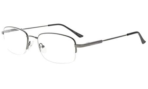 Eyekepper Bendable Titanium Memory Reading Glasses Men Women Half-Rim Readers - Bendable Titanium Eyeglasses