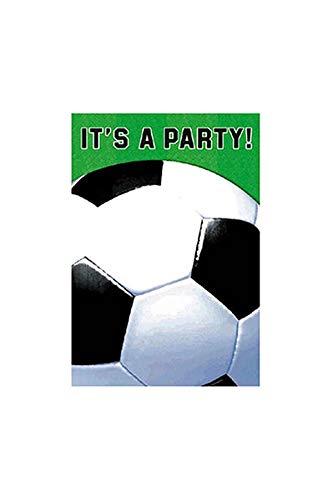 - Amscan Soccer Fan Folded Party Invitations