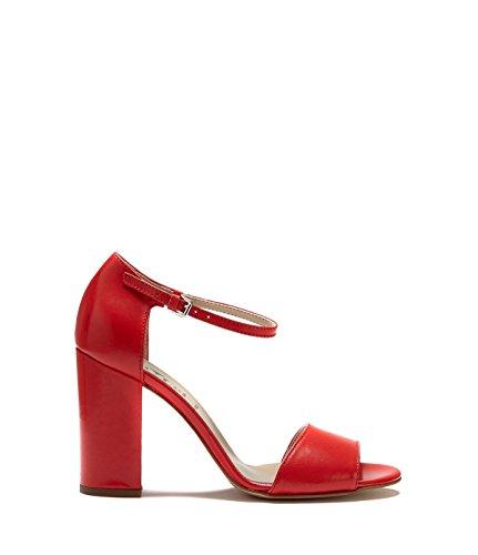Gianna Poilei À Chaussures Talon Bloc Sangles Avec Rouge Sandales Femmes dxx6FS