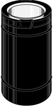 48' Dura Vent (M & G Dura-Vent DirectVent Pro 4'' ID with 6 5/8'' OD 48'' Black Length)