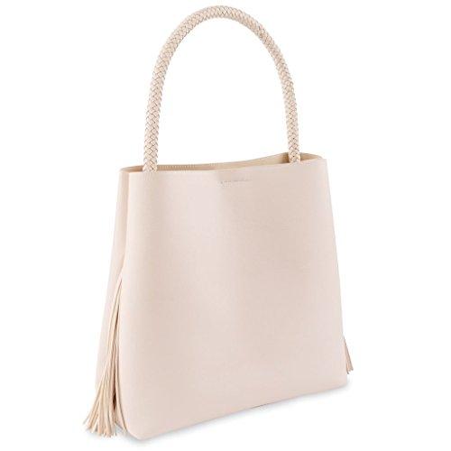Mud Pie Women's Fashion Fionna Fringe Tote Bag - Cream