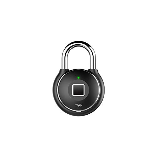 Tapplock one+ Midnight Black Fingerprint Bluetooth Biometric Keyless Smart Padlock
