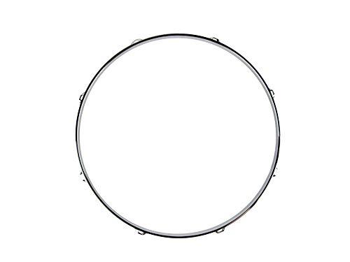 Goedrum 1PC 16 Inch 8 Hole Tom Drum Hoop/Drum Rim 16 Inch 8-Lug/Chrome