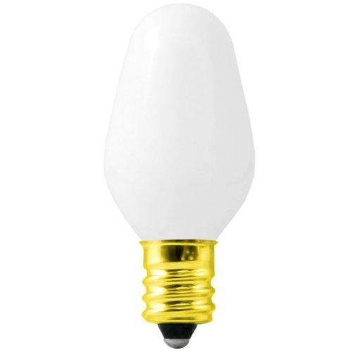 Bulbrite 709007 - 7 Watt Light Bulb - C7 - White - Candelabra Base - 3,000 Life Hours - 20 Lumens - 120 Volt