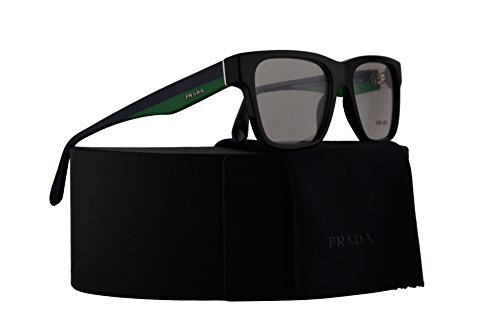 Prada PR16RV Eyeglasses 53-16-140 Black w/Demo Clear Lens 1AB1O1 VPR16R VPR 16R PR - Lens Eyeglasses Prada Clear
