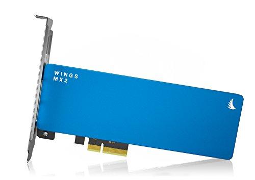 Angelbird Wings MX2 512GB SSD PCIe Gen2 x2 Adapter [Vervaardigd in Oostenrijk | 3 jaar garantie | tot 800MB/s | AHCI 1.3…